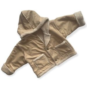 Faux Suede Baby Reversible Jacket